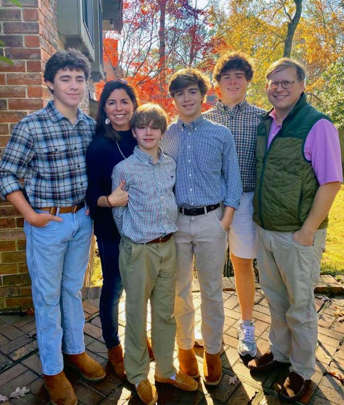 Dr. Michael Brooks and his family
